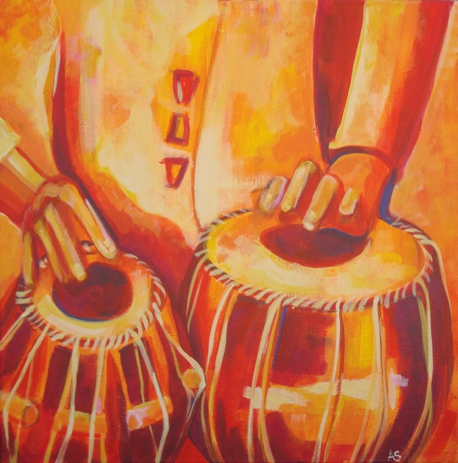 """""""Tabla,"""" oil on canvas"""