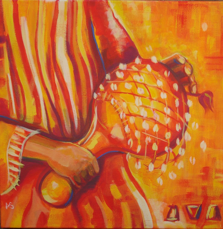 """Axatse,"" oil on canvas"