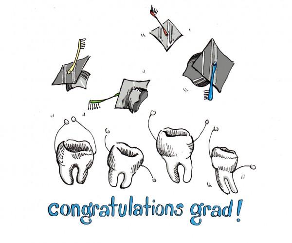 """""""Congratulations Grad!"""", pen and digital color"""